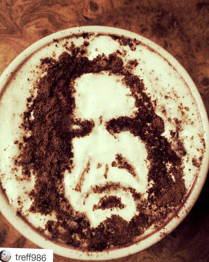 Любимый кофе Кофеарт, Корица, Длиннопост, Портрет, Фотография