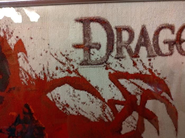 Хобби моей девушки - вышивка крестиком Вышивка, Мулине, Игры, Dragon Age, Ручная работа, Красота, Нитки, Картина, Длиннопост