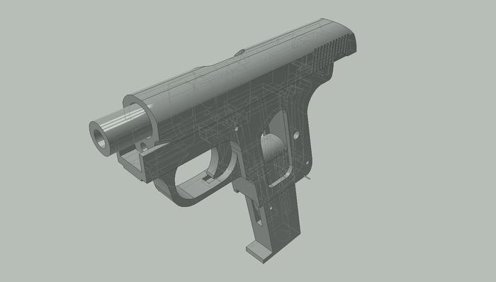 Миниатюрный Colt 1908 Model N Оружие, Кольт, ЧПУ, Хобби, Статья, Модели, Видео, Длиннопост