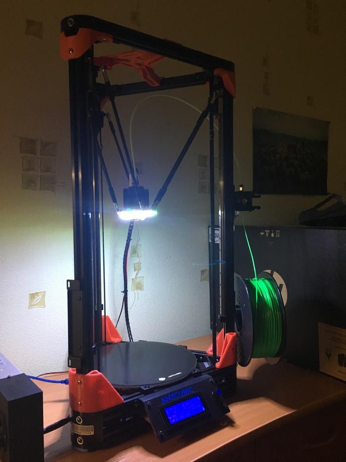 Первый опыт в 3д печати Anycubic Kossel Kossel, 3D печать, Длиннопост, Первый опыт, Видео, Гифка