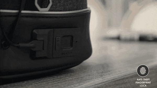 Agazzi - крутой рюкзак с подсветкой кармана и замком, защищённым отпечатком пальца. Kickstarter, Indiegogo, Рюкзак, Гаджеты, Гик, Гифка, Длиннопост