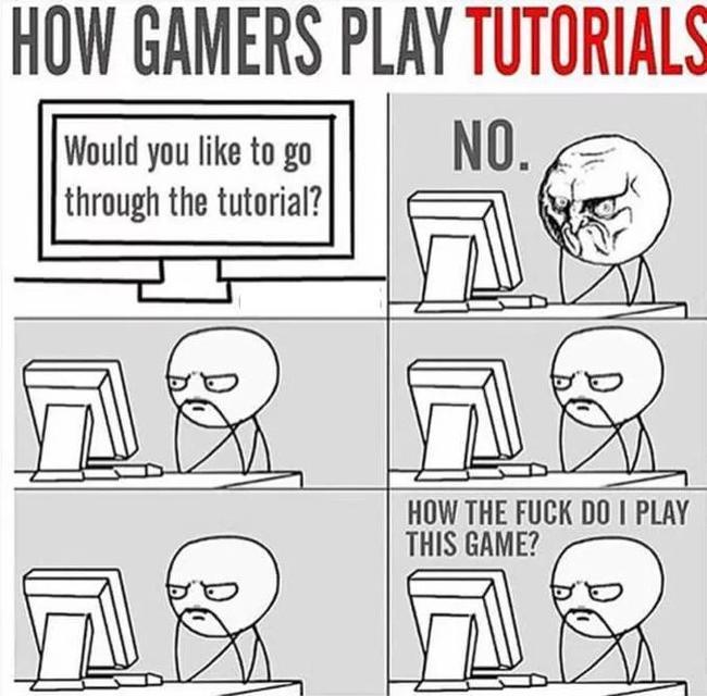 Как геймеры проходят обучение в играх 9GAG, Игры, Обучение, Юмор, Перевод