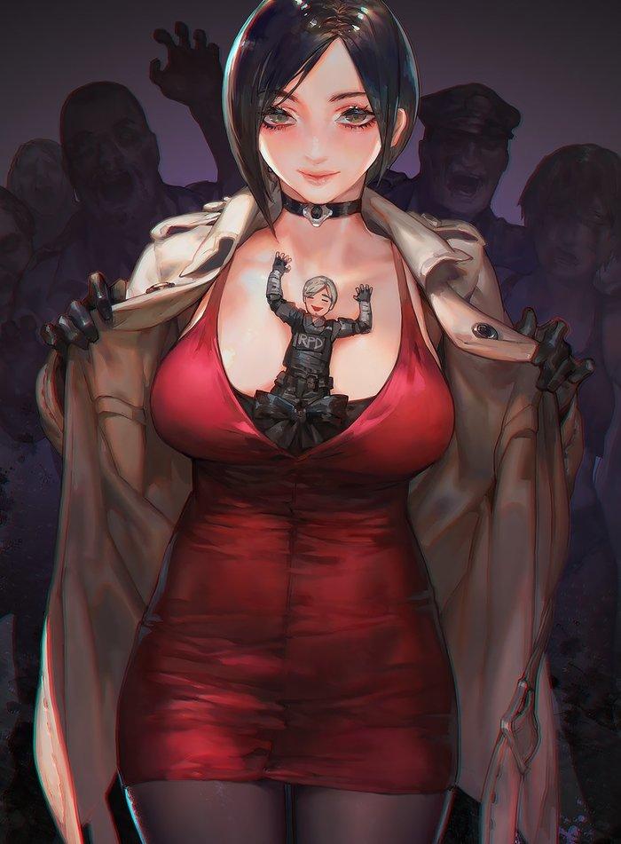 Art Aoin, Aoin Hatsu, Resident Evil 2: Remake, Ada Wong, Leon Scott Kennedy, Игры, Арт, Resident Evil