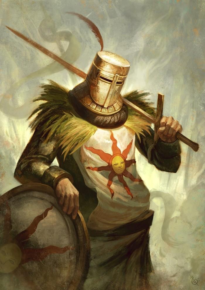 Solaire of Astora - Dark Souls Dark Souls, Soler of Astora, Солер из асторы, Арт, Компьютерные игры