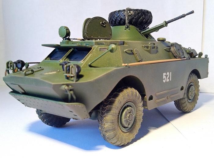 БРДМ-2 (поздняя версия), 1:35 Моделизм, Масштабная модель, Брдм-2, Стендовый моделизм, Длиннопост