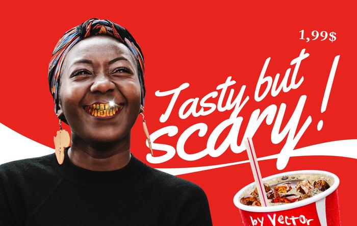 Любимая Кока Кола! С 1886. Прикол, Зубы, Coca-Cola, Web Designing, Posters, Плакат, Графический дизайн, Мемы