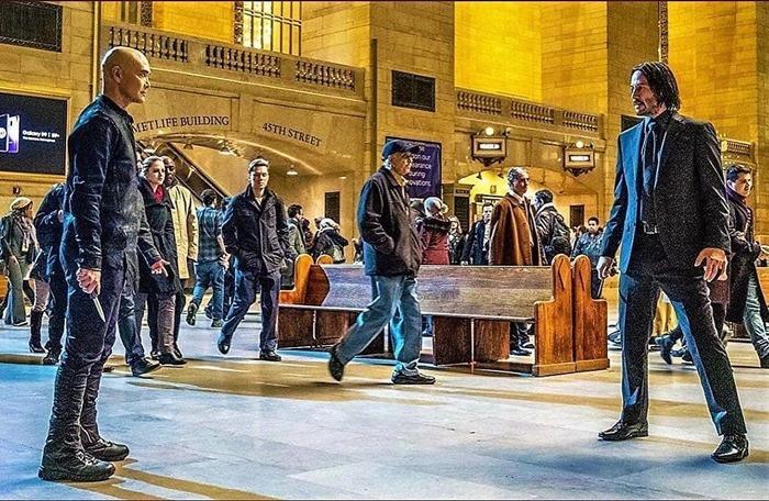 Лицом к лицу Киану Ривз, Марк Дакаскос, Джон Уик, Боевики, Кадр из фильма, Джон Уик 3