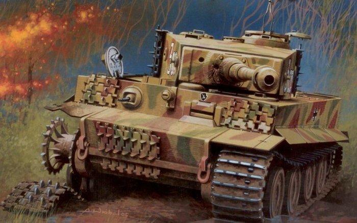 Тигр и Т-34 Танки, т-34, Тигр, Длиннопост