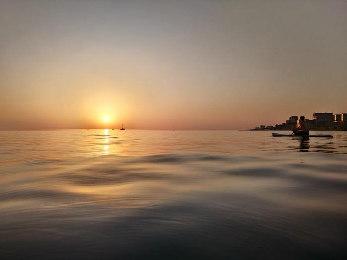 Закат на Каспии Каспийское море, Актау, Сапборд, Закат, Фотография