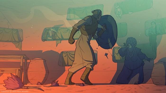 Tellurion [9] Tellurion, Комиксы, Веб-Комикс, Арт, Фэнтези, Приключения, Matt rhodes, Длиннопост