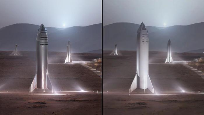 Илон Маск опубликовал новые рендеры ракеты BFR Spacex, Илон Маск, Рендер, Космос, Ракета, Bfr, Луна, Марс