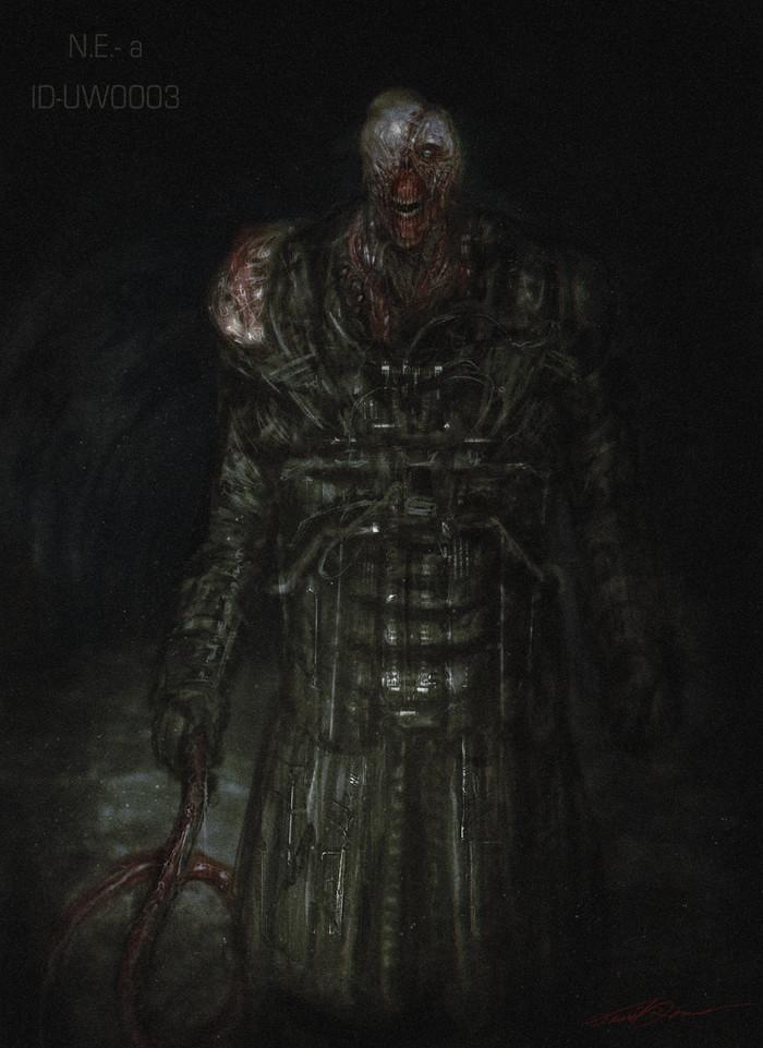Nemesis Resident Evil, Resident Evil 3, Nemesis, Компьютерные игры, Арт, Крипота