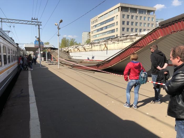 На Тимирязевской РЖД, Платформа, Происшествие