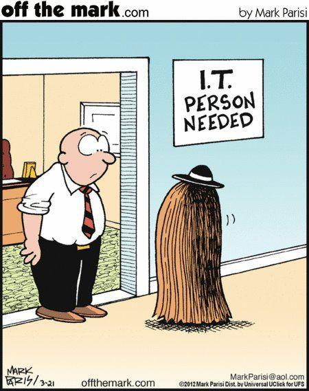 Ну, вот он я Комиксы, Offthemark, Волосы
