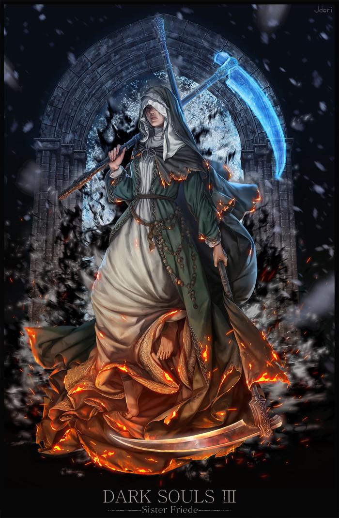 Sister Friede Dark Souls, Dark Souls 3, Sister Friede, Арт