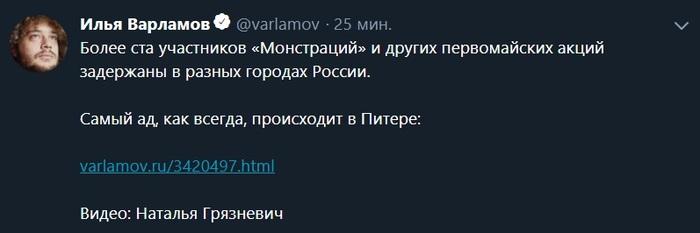 Очередной петтинг в Питере Санкт-Петербург, Митинг, Политика, Twitter, 1 мая, Видео, Длиннопост
