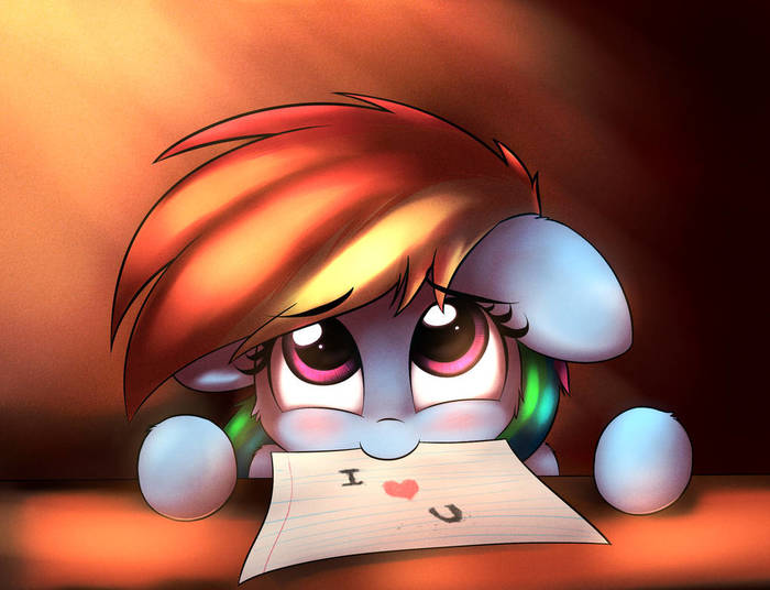 Дэши любит тебя My Little Pony, Rainbow Dash, Heavymetalbronyyeah