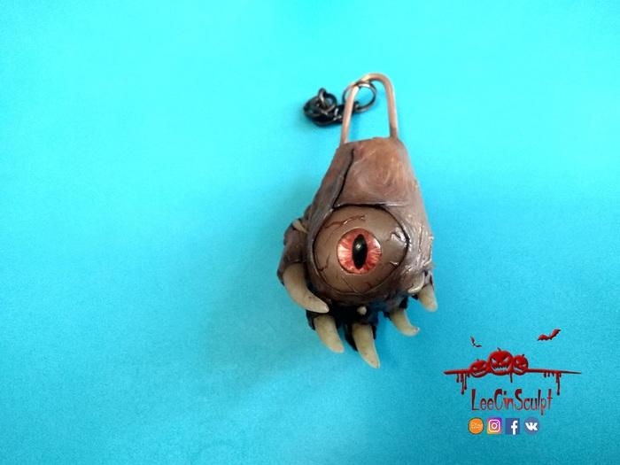 Наблюдатель из касты Мертвой Плоти. Изменяющие плоть, Полимерная глина, Своими руками, Leecinsculpt, Брелок, Длиннопост