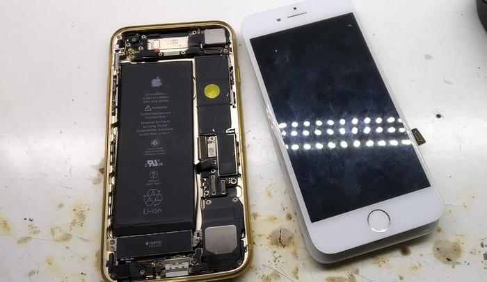 Iphone 7. Защищённый на водопое Iphone 7, Ремонт, Подсветка, Восстановление дорожек, Apple, Пайка, Длиннопост