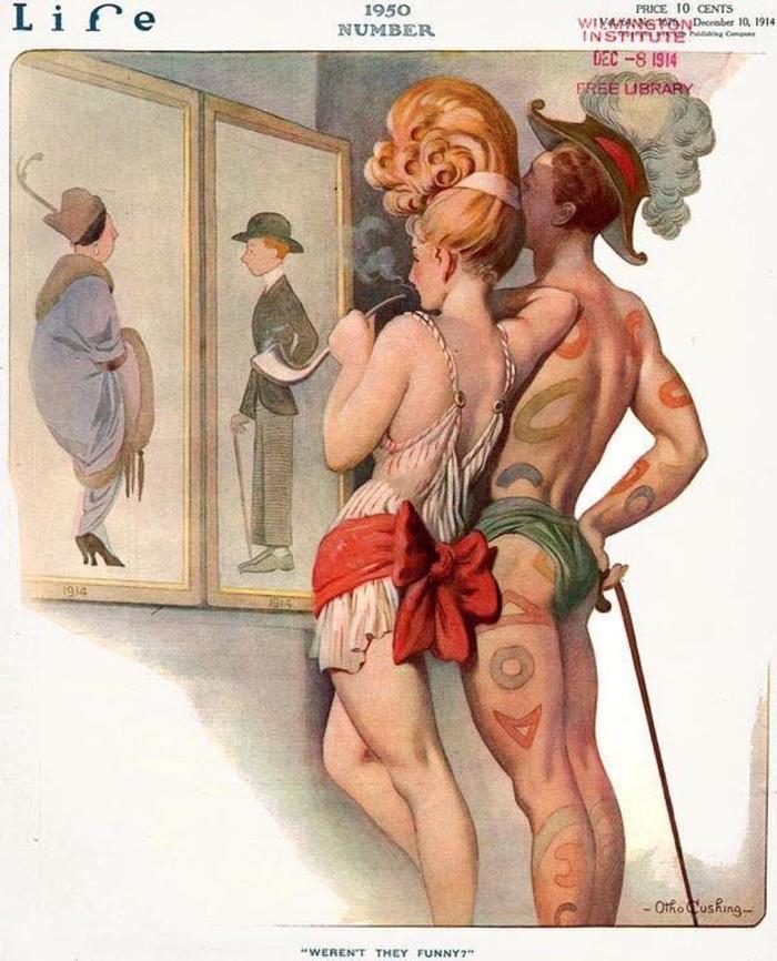 Журнал Life в 1914 г. представил, как бы одевались люди в 1950.