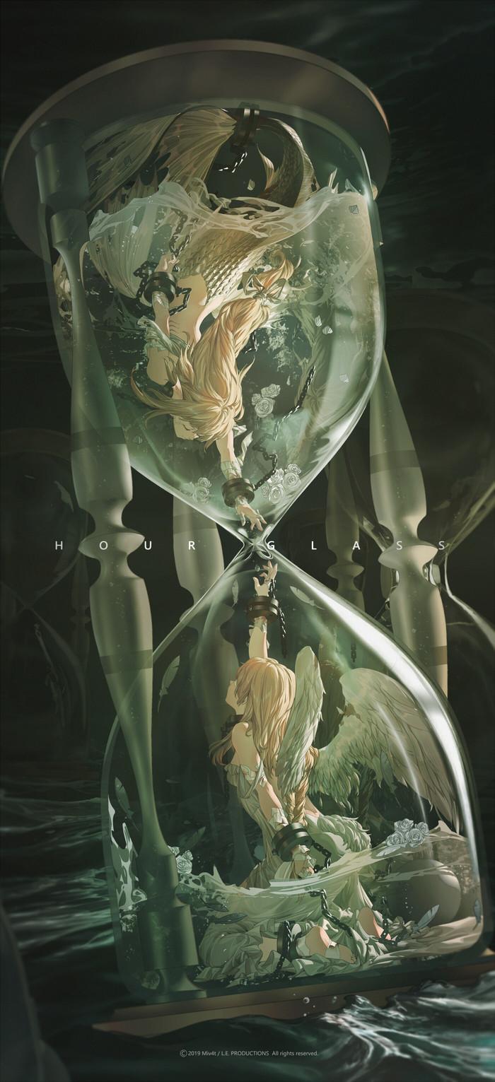 Часы Anime Art, Рисунок, Часы, Длиннопост, M4 Miv4t