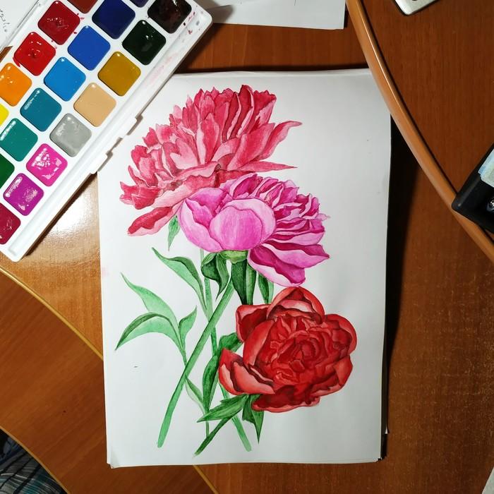 Акварельная терапия Рисунок, Акварель, Эмоции, Длиннопост, Я художник - я так вижу