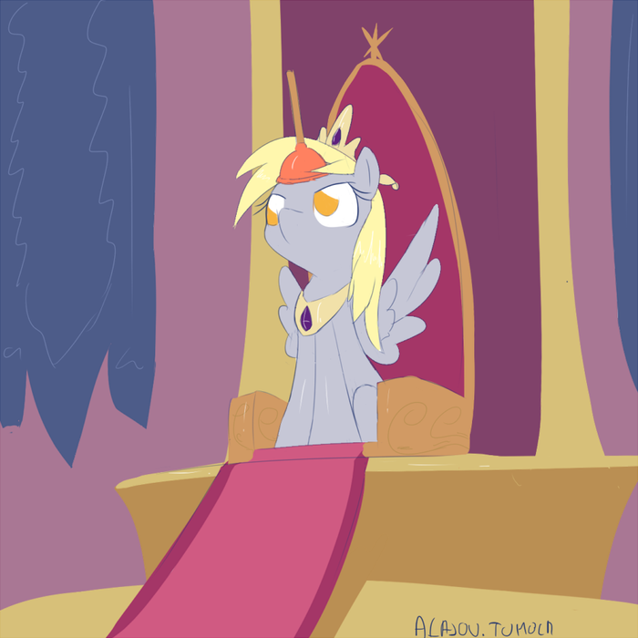 Derpy as an alicorn doing princess stuff My Little Pony, Derpy Hooves, Princess Derpy, Alasou