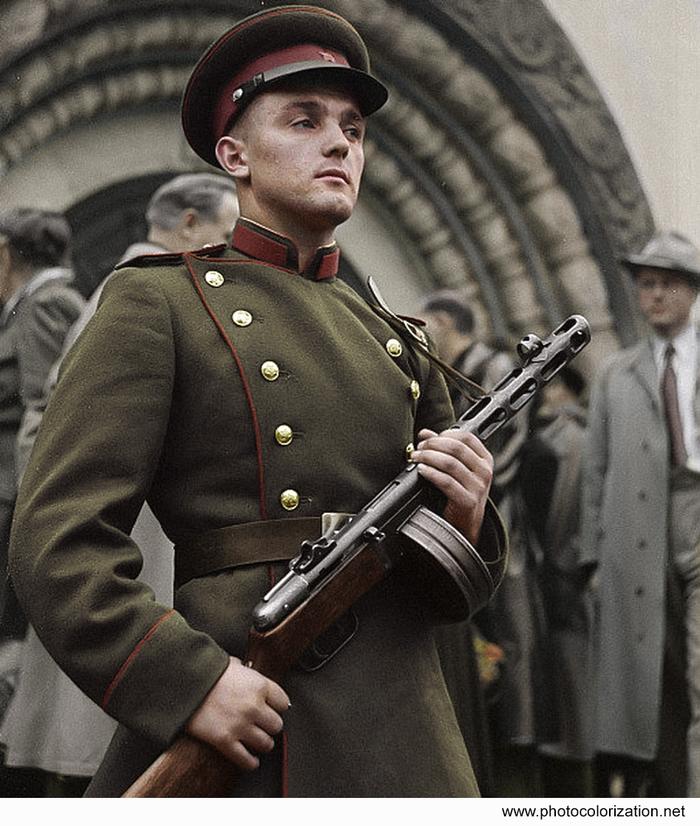 Моя колоризация Колоризация, Великая Отечественная война, Ппш