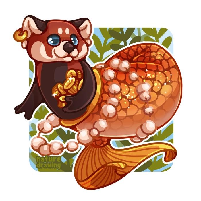 MerMay Challenge | Малая панда Рисунок, Животные, Русалка, Панда, Challenge, Mermay, Видео, Красная панда