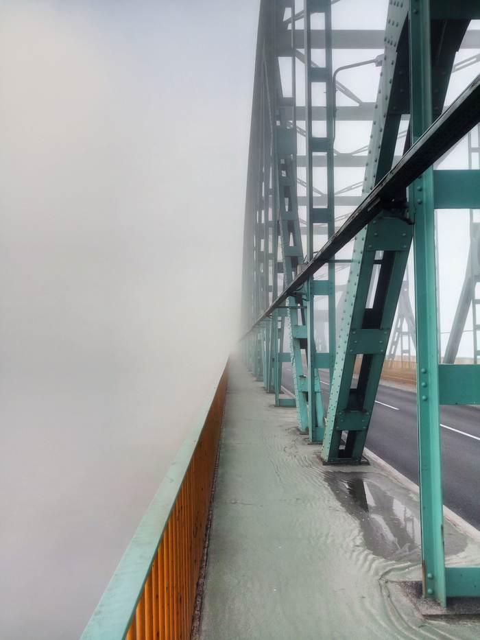 Bydgoszcz, Poland Фотография, Фото на тапок, Польша, Быдгощ, Утро, Мост, Туман