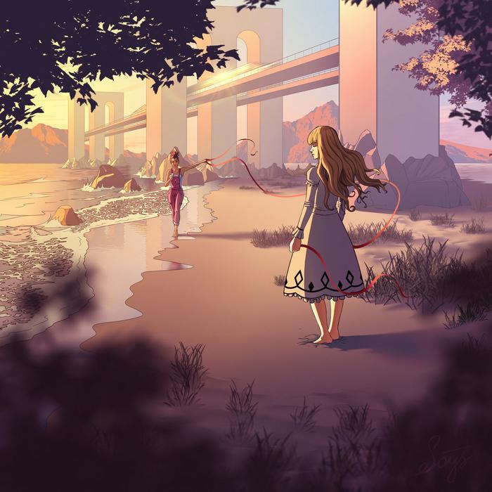 Carol & Tuesday Anime Art, Кэрол и Тьюсдей, SAI, Photoshop, Аниме, Длиннопост, Этапы, Цифровой рисунок, Девушки