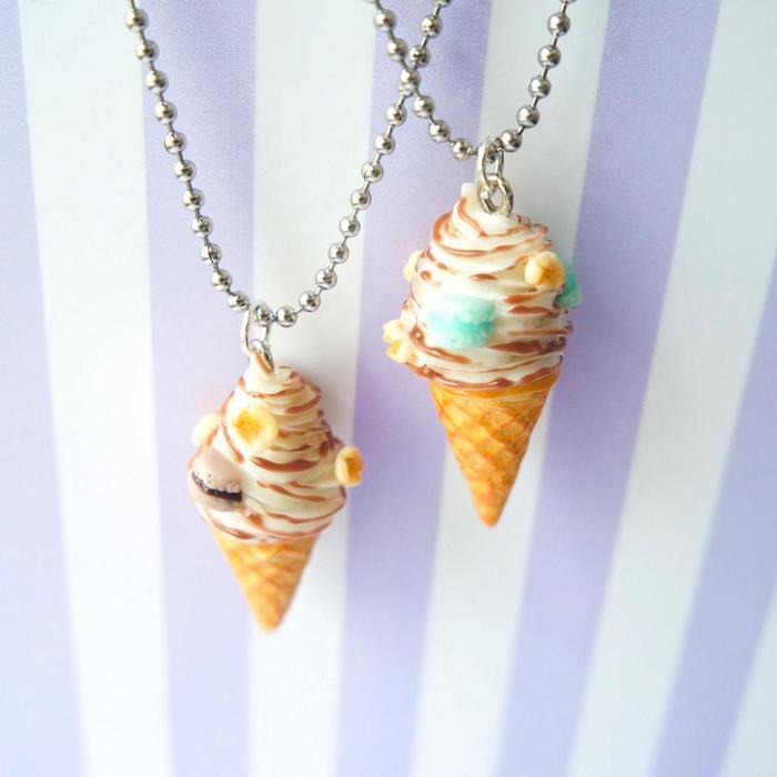 Ваш яркий акцент этим летом! Мороженое, Полимерная глина, Макаруны, Попкорн, Десерт, Фотография, Подвеска, Длиннопост