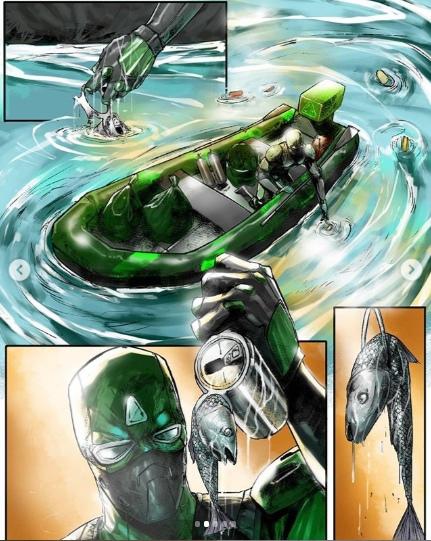 """Комикс """"Чистомэн"""". Глава 3. Чистомен, Комиксы, Экология, Длиннопост, Лига чистомена"""