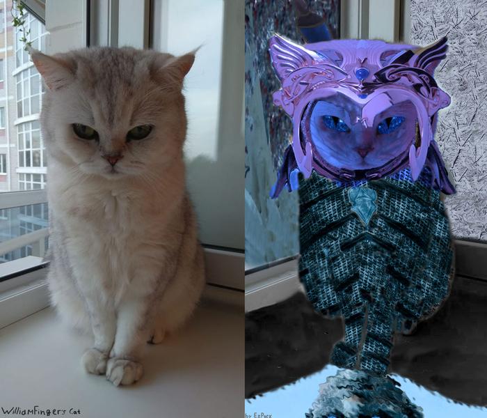 Короля Ночи кот Photoshop, Кот, Игра престолов, Кот короля ночи