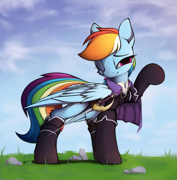 Радужный мушкетёр My Little Pony, Rainbow Dash, Hitbass