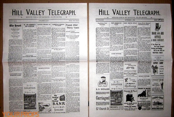 Hill Valley Telegraph, USA Today & some people at photo Газеты, Назад в будущее, Hill Valley Telegraph, Usa Today, Фотография, Длиннопост