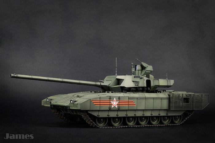 Т-14 на базе платформы «Армата» т-14, Армата, Парадная окраска, Модели, Сборная модель, Takom, Бронетехника, Длиннопост