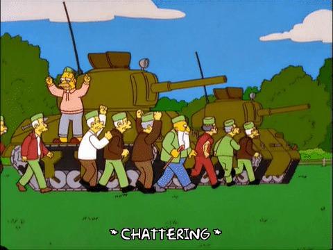 Симпсоны на каждый день [8_Сентября] Симпсоны, Каждый день, Танки, Танкист, Гифка, Длиннопост