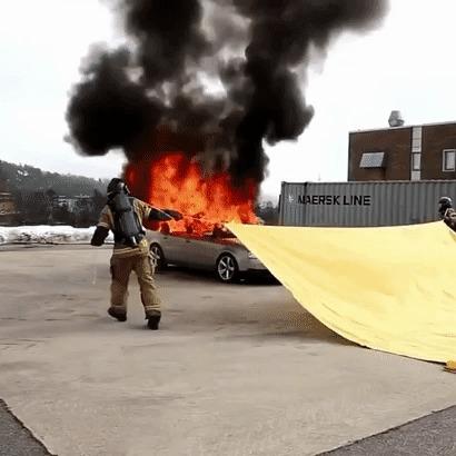 Пожарное одеяло