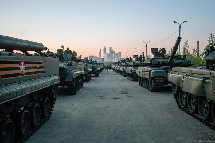 Подготовка к параду в Москве Парад, Парад Победы, 9 мая, Москва, Москва-Сити, Фотография