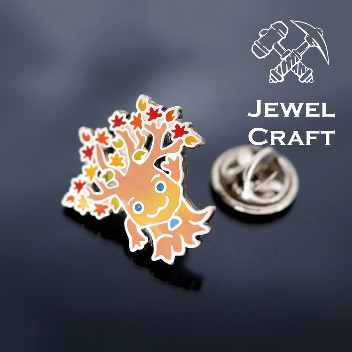 WoW pin Jewelcraft, Warcraft, WOW, Pin, Брошь, Серебро, Эмаль, Blizzard, Длиннопост