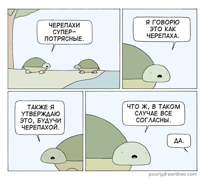 Черепахи Перевел сам, Poorly Drawn Lines, Комиксы