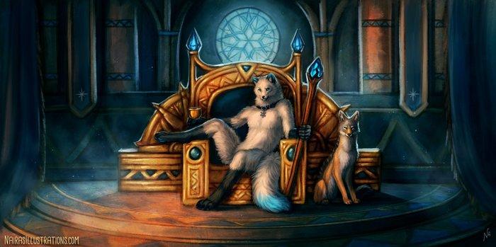 Снежный король Фурри, Антро, Арт, Naira, Nairasillustrations