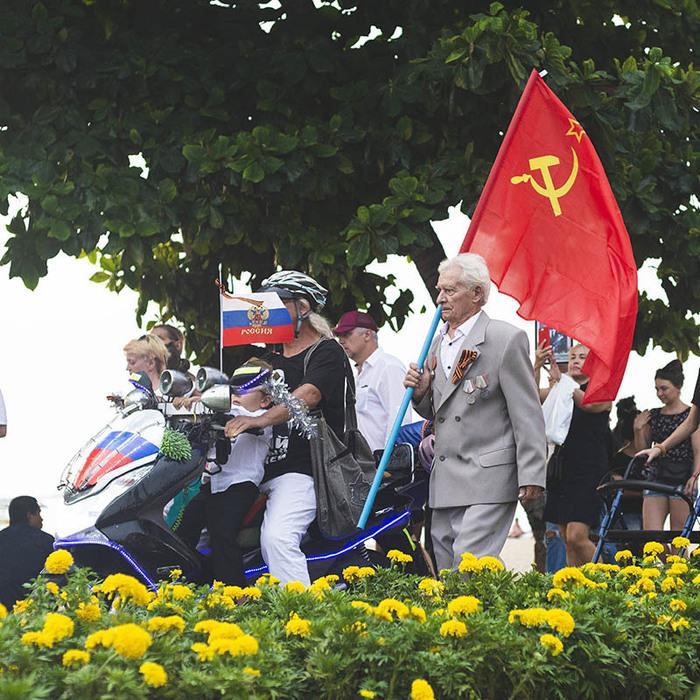 Вчера в Таиланде прошел Бессмертный полк День Победы, Таиланд, Паттайя, Бессмертный полк, Длиннопост