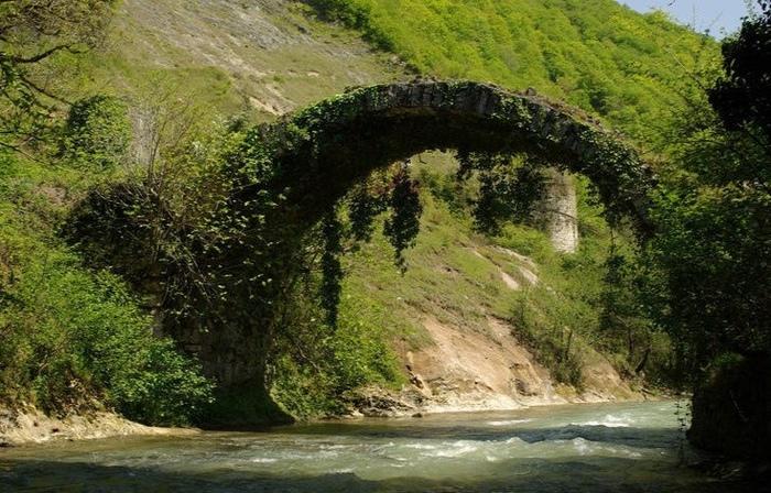 Беслетский мост. Фотография, Грузия, Мост, Длиннопост