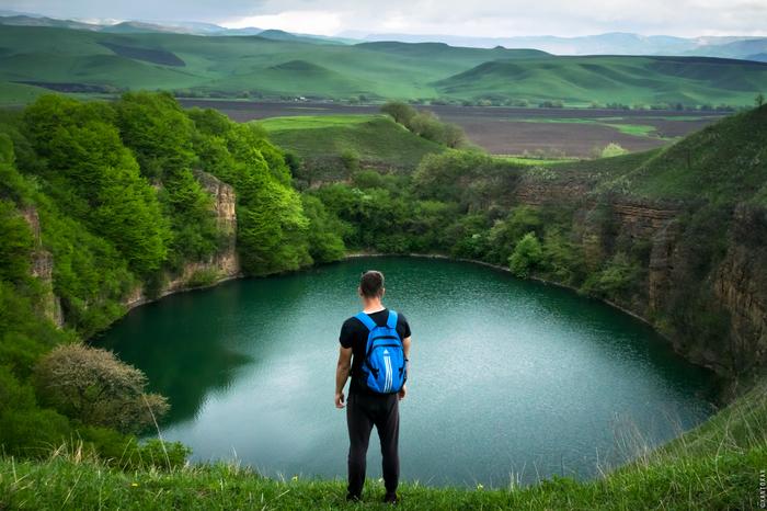 Карстовое озеро Шадхурей Озеро Шадхурей, Кавказ, Горы, Путешествия