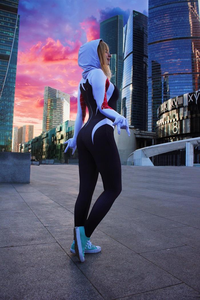 Spider-Gwen cosplay Косплей, Русский косплей, Человек-Паук, Spider-Gwen, Москва, Москва-Сити, Длиннопост