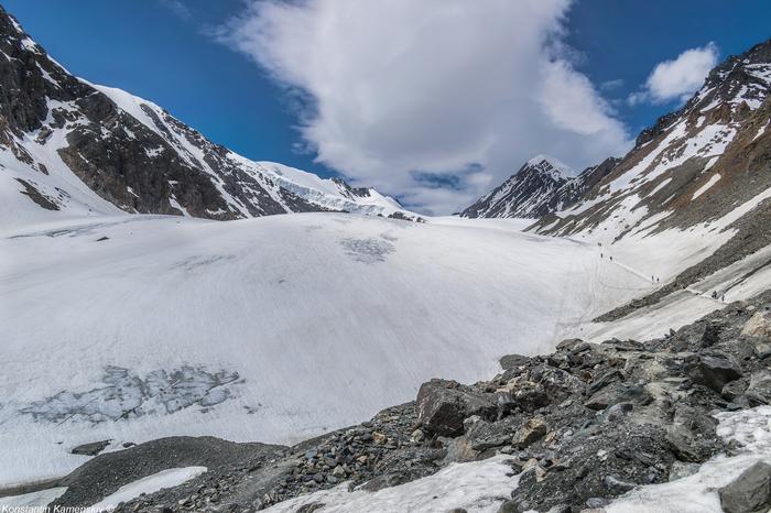 Ледник Большой Актру Алтай, Горный Алтай, Фотография, Пейзаж, Горы, Природа, Ледник, Северо-Чуйский хребет, Длиннопост