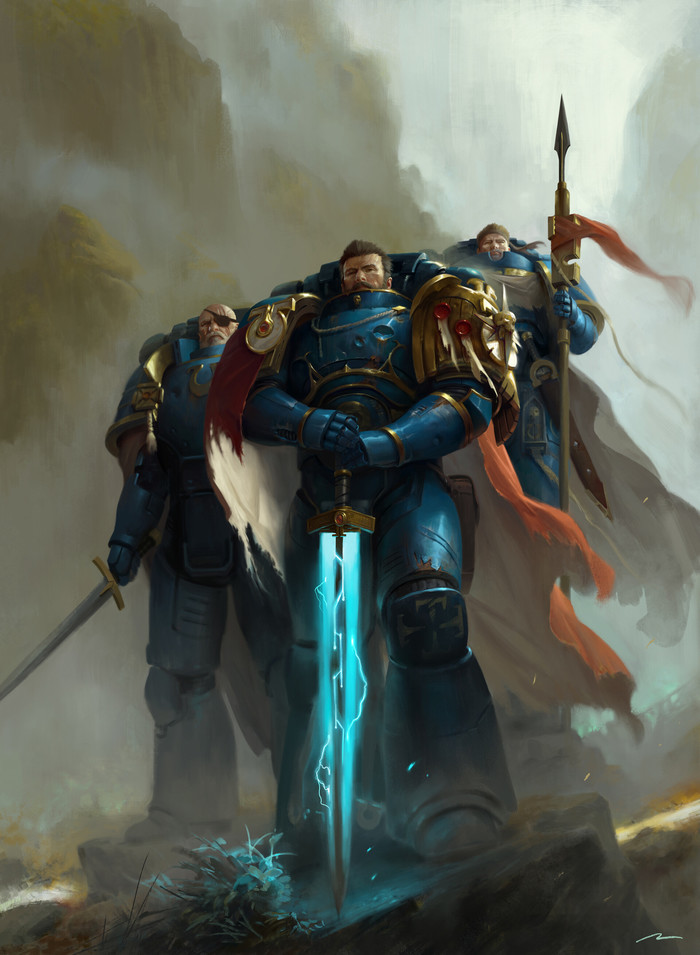 Knights of Macragge Warhammer 40k, Wh Art, Ultramarines, Космодесант