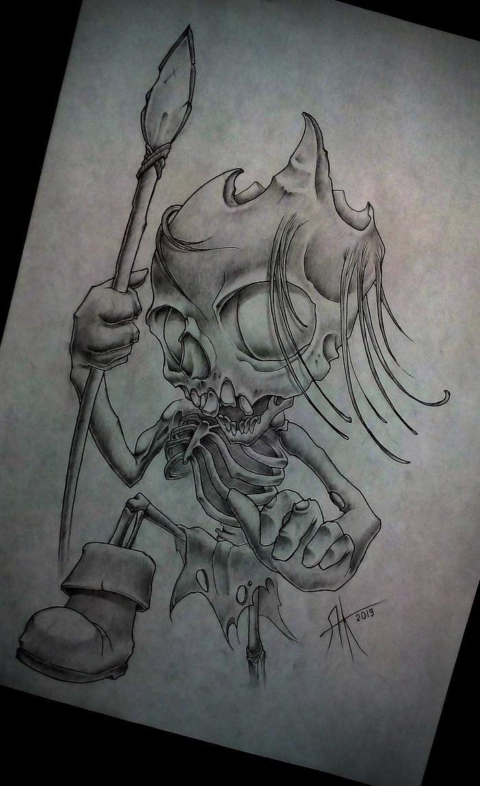 Зомби Зомби, Игра престолов, Скелет, Рисунок, Рисунок карандашом